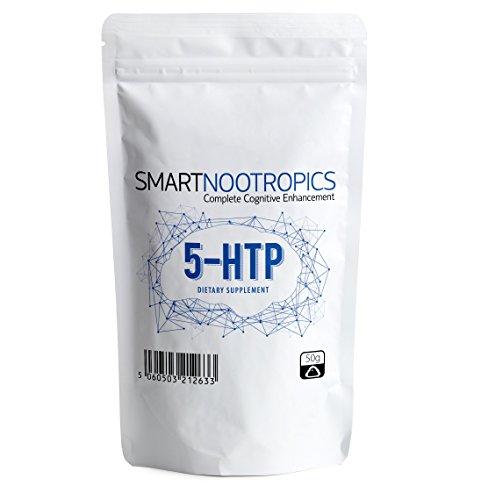 Reines 5-HTP Pulver - Verbessert Stimmung & Schlafqualität | Unterstützt bei Gewichtsabnahme | Rein & Natürlich - Smart Nootropics - Verpackt in Großbritannien in ISO-lizenzierten Betrieben - 100 % Geld-zurück-Garantie (50g)