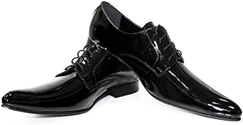 Modello Lucero - Handmade Italiano da da da Uomo in Pelle Nero Scarpe da Sera - Vacchetta Pelle Morbido - Allacciare | Eccezionale  933430