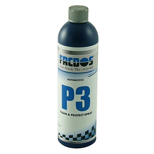 FACDOS P3 Clean & Protect Spray 750 ml | Vielseitiges Polier-Spray für Oberflächen-Glanz & leichte Versiegelung | Detailer und Reiniger | Ideal für die professionelle Pflege von Neuwagen im Showroom