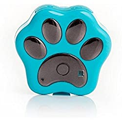 Tonsee Smart WiFi Pet GPS Tracker Entfernten WLAN Finder Hund Katze Halsband Locator (Hellblau)