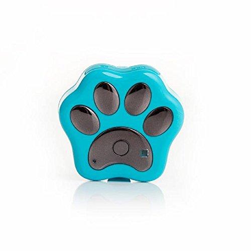 Preisvergleich Produktbild Tonsee Smart WiFi Pet GPS Tracker Entfernten WLAN Finder Hund Katze Halsband Locator (Hellblau)