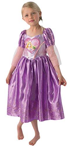 Zauberclown - Mädchen Karneval Kostüm Kleid Love Hearts Rapunzel, Mehrfarbig, Größe 110-116, 5-6 Jahre (Damen Disney Princess Aurora Kostüme)