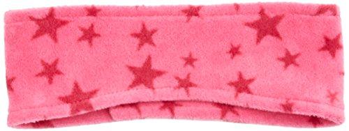 Playshoes Kinder Stirnband aus Fleece mit Sternen-Muster wärmendes Accessoire mit Klett-Verschluss, pink, one size