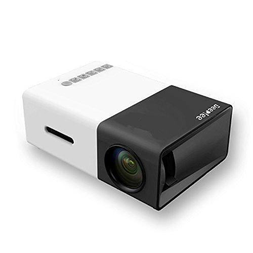 Mini Proiettore, Deeplee LCD LED Proiettore Home Cinema Theater con supporto USB / SD / AV / HDMI supporto per PC Portatili Pendrive Proiettore Hard Disk TV Box per Videogiochi, Film, Festa, Proiettore video per il Divertimento Domestico - Nero