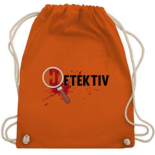 Halloween - Detektiv Karneval Kostüm - Unisize - Orange - WM110 - Turnbeutel & Gym - Am Besten Gruselige Kostüm