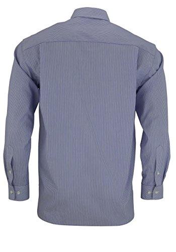 OLYMP -  Camicia Casual  - Business - A righe - Classico  - Maniche lunghe  - Uomo S6 mittelblaue Streifen