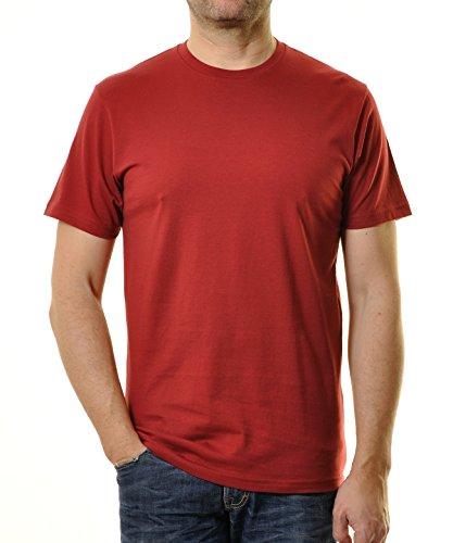 Ragman Herren T-Shirt Rundhals Singlepack  XL,  Weinrot