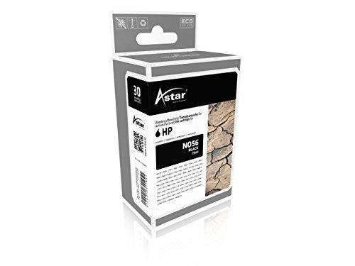 Preisvergleich Produktbild Astar AS15656 Tintenpatrone kompatibel zu HP NO56 C6656A, 520 Seiten, schwarz