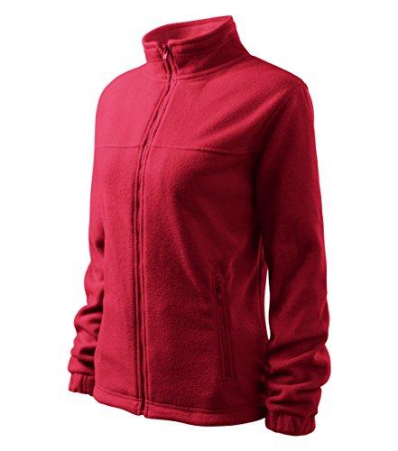 MIHEROS Outdoor Jackets - warme Damen Fleece Jacke mit Anti-Pilling-Microfleece - Rot - Größe: S