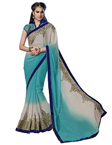 Mahotsav Women's Faux Chiffon Shimmer Art Silk , Net Sarees ( 8418...