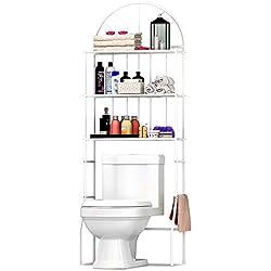 JUEYAN Meuble Etagères de WC,Meuble de Rangement au-Dessus des Toilettes WC ou Lave-Linge avec 3 tablettes,pour Salle de Bain