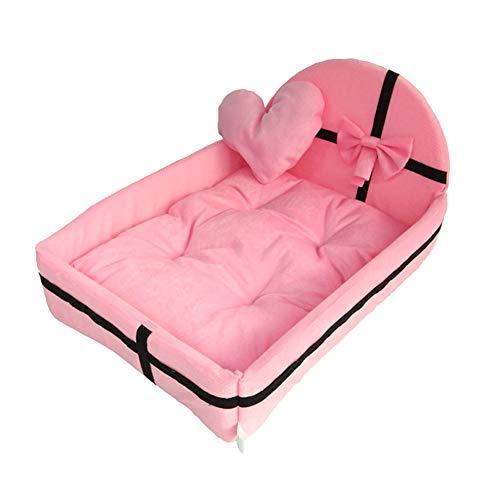 MAyouth -Hundebett Weiche Waschbare Warmes Bett Kissen Mit Fleece-Futter Für Kleine Bis Große Hunde Katzen Sleeping - Abnehmbarer