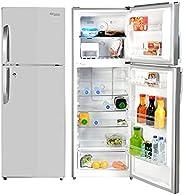 Super General 410 Liters Gross Top-Mount Refrigerator-Freezer, No-Frost, LED-light, Lock & Key, Inox, SGR-