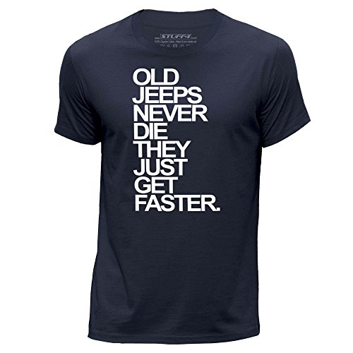 stuff4-uomo-xxx-grande-3xl-blu-navy-girocollo-t-shirt-old-jeeps-jeep-never-die