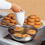 Plastica macchina per ciambella Mold DIY Tool Kitchen pastry making Bakeware Home Living donna casalinga semplice rimovibile comodo ciambella Tools regolabile pancakes gadget onsize white
