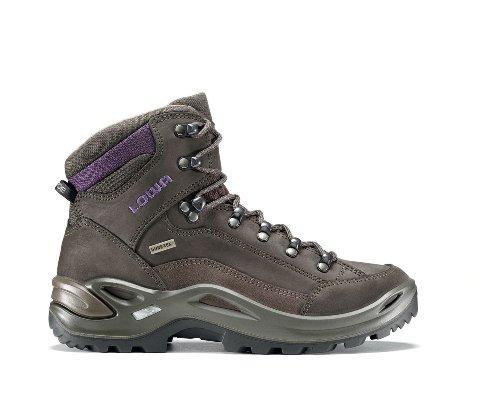 Lowa Renegade GTX Mid, Stivali da Escursionismo Alti Uomo Schiefer/aubergine