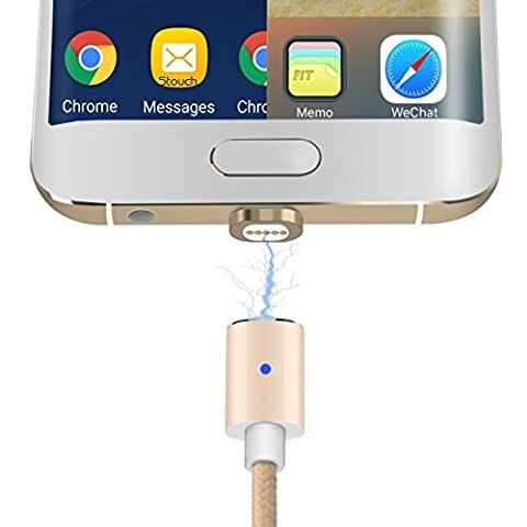 Stouch 2 in 1 Magnetic Charging Cable,Magnetic Lightning and Micro USB Connector Adapter for iPhone 7 7S Plus 6 6S iPad Mini/Pro Samsung Galaxy S7 Edge HTC MOTO SONY Xperia