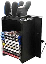 Multifunctional Console Stand with Game Disk Storage for PlayStation 4