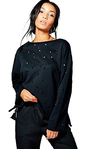 Noir Femmes Jessica Sweat Aspect Vieilli Noir