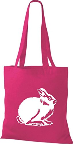 Shirtstown Pochette en tissu Animaux Lapin, rammler, lapin Rose - Fuchsia