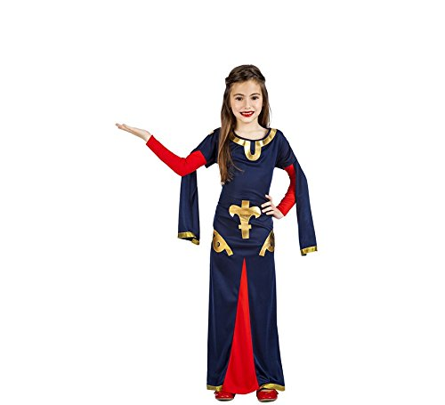 Imagen de disfraz de dama medieval carta para niña