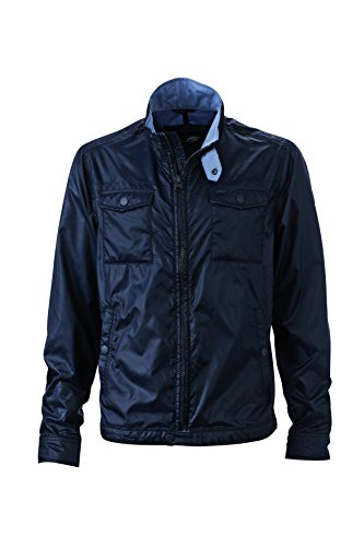 James & Nicholson Herren Travel Jacket Jacken, Navy, XXXL Travel Jacket