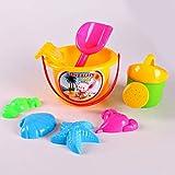 WESEEDOO Wasser Spaß Spielzeug, Strand Spielzeug Set Sand Spiel Spielzeug Pool Wasser Spaß Spielzeug Kinder Sand Spielzeug Set Outdoor Wasser Strand Spielzeug Set (7-PCS) (zufällige Farbe)