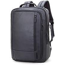 Pinwheel Laptop Backpack Mochila Viaje Business Impermeable Bolsa Para Maletín Convertible Se Adapta a Hasta 15,6 Pulgadas (Negro)