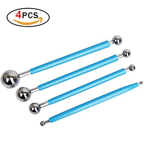 Sugarcraft Tools 4 PCS avec 8 Tailles Boule