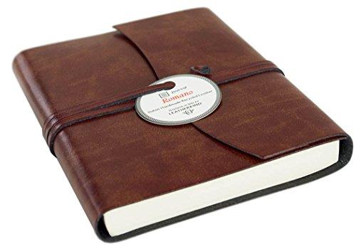 Romano Handgemachtes Italienisches Notizbuch aus recyceltem Leder (13cm x 17cm)