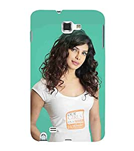 For Samsung Galaxy Note 2 :: Samsung Galaxy Note II N7100 beautiful girl ( beautiful girl, cute girl, girl, famous girl ) Printed Designer Back Case Cover By CHAPLOOS