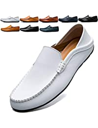 0d58d536204 BOLOG Loafers Mens Slip on Moccasins Leather Business Shoes Leather Driving  Shoes Fashion Casual Flats Penny