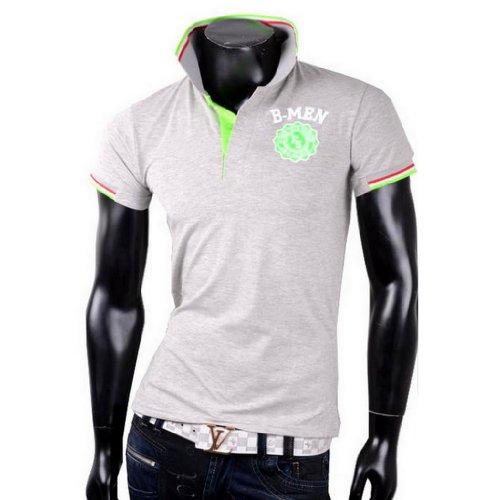 Herren Poloshirt T-Shirt Shirt B-MEN Tanktop Tank top T shirt Body Grau