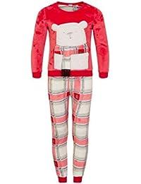 Loungeable Boutique - Pijama - Cuadrados - Manga Larga - para niña