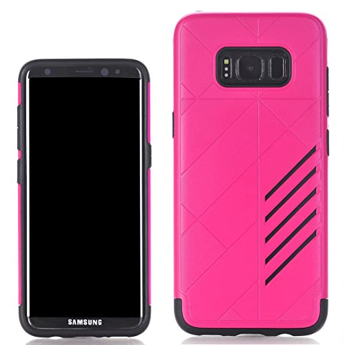 YHUISEN Galaxy S8 Case, 2 In 1 Rüstung Tough Style Hybrid Dual Layer Rüstung Defender PC + TPU Schutzhülle für Samsung Galaxy S8 ( Color : Black ) Rose