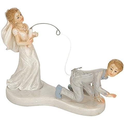 Bride Fishing Groom Wedding Couple Cake Topper **SALE**