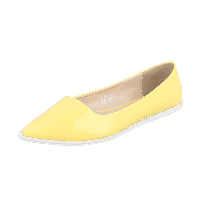 Ballerinas Damenschuhe Geschlossen Moderne Ital-Design Ballerinas:  Amazon.de: Schuhe & Handtaschen