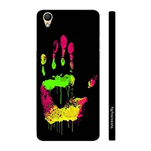 Enthopia Designer Hardshell Case Coloured Hand Print Back Cover for Oppo R9