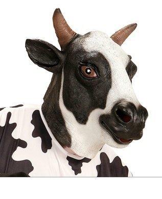 Kuh Maske - Widmann wdm96646-Maske Kopf komplett Kuh, schwarz,