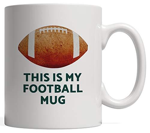 AmyNovelty Tazza caffèQuesta è la mia Tazza da Calcio Prendi i Guanti e Le tacchette per Il Casco e Passa la Giornata Guardare Il torneo del