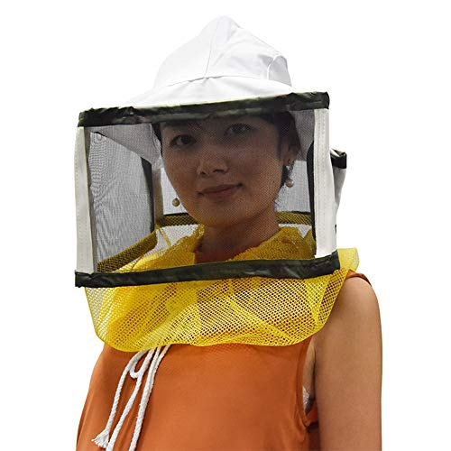 PanDaDa Imker Imkerei Anti Biss Hut mit quadratischem Gesichtsschutznetz mit verstellbarem Riemen