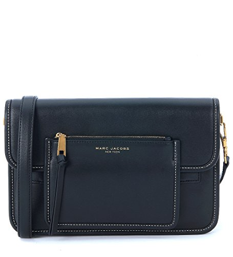 Borsa a tracolla Marc Jacobs Madison Large Shoulder in pelle nera