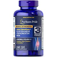 Puritans Pride Double Strength Glucosamine, Chondroitin & MSM Joint Soother-240 Caplets