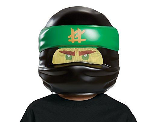 Kind Ninja Green Kostüm - LEGO Ninjago Movie - Lloyd Movie Maske, one size