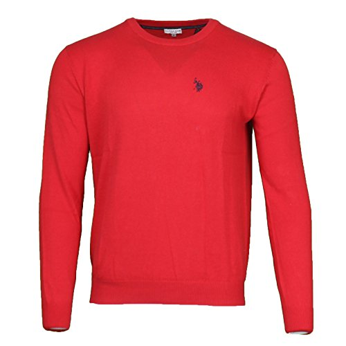 us-polo-assn-rundhals-sweater-herren-pullover-sweatshirt-rot-173-42965-51894-155-grossenauswahlxxl