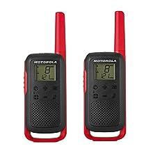 Motorola Talk About T6 – APPARECCHIO Radio Ricetrasmittente PMR (PMR446, 16 canali e 121 codici, raggio d' azione fino a 8 km)