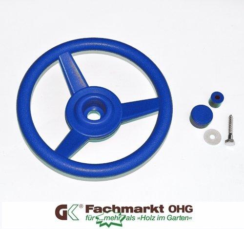 Lenkrad/Steuerrad für Spielanlagen, blau (330mm Lenkrad)