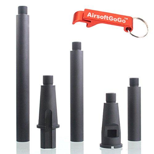 4 Segments Outer Barrel 14mm CCW f?r Softair M4 / M4 / SR16 / SR25 Version Dual Purpose AEG & GBBR - Schl?sselanh?nger Inklusive