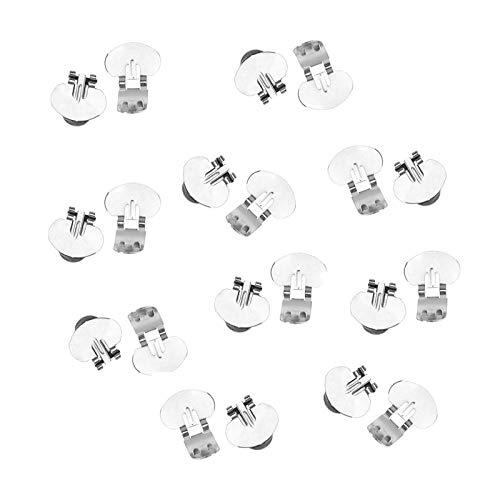 OTOTEC Blank Schuh-Clip Hochzeit Brosche Basteln Schnallen Brautaccessoire Diamante Decor -