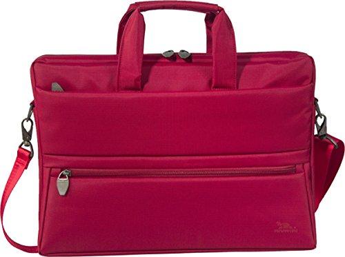 """RIVACASE Laptoptasche für Geräte bis 15.6"""" - Stilvolle Tasche mit viel Stauraum und großartigen Design - Rot"""